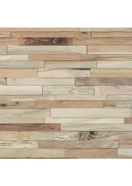 3D Stacked Natural Hickory Walling